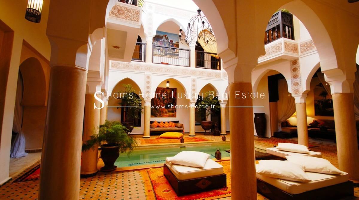 Marrakech Decoration D Interieur vente riad en exploitation à la médina de marrakech - réf